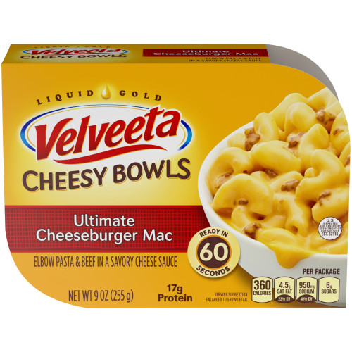 Velveeta Cheesy Bowls - Cheeseburger Mac n Cheese, 9 oz.