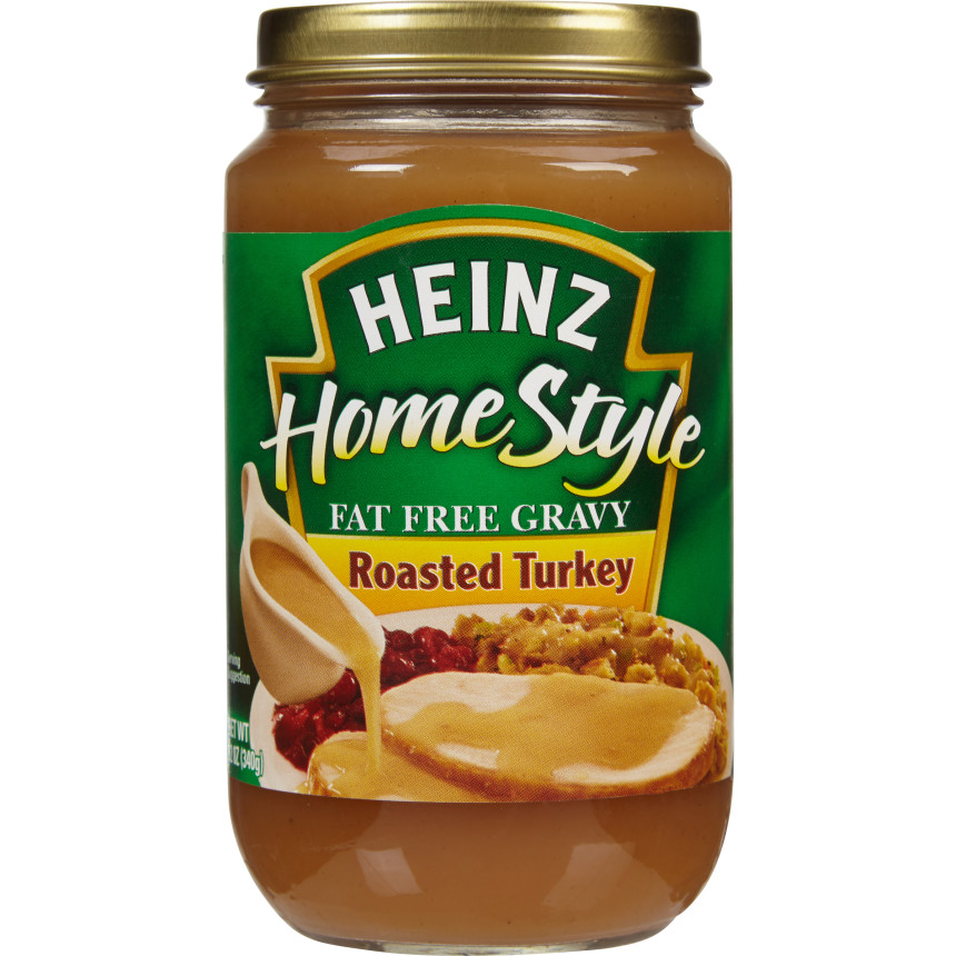 Heinz Home-style Roasted Turkey Fat-Free Gravy, 12 oz Jar image