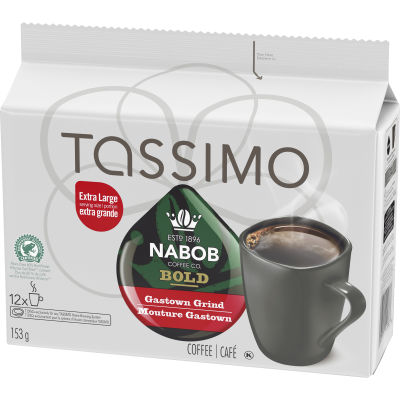 Tassimo Nabob Bold Gastown Grind Coffee Single Serve T-Discs