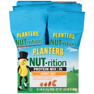 Planters NUT-rition Honey Nut Protein Mix 12 - 1.66 oz Bags