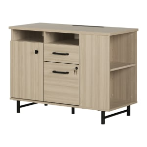 Zelia - 2-Drawer Credenza With Open and Closed Storage