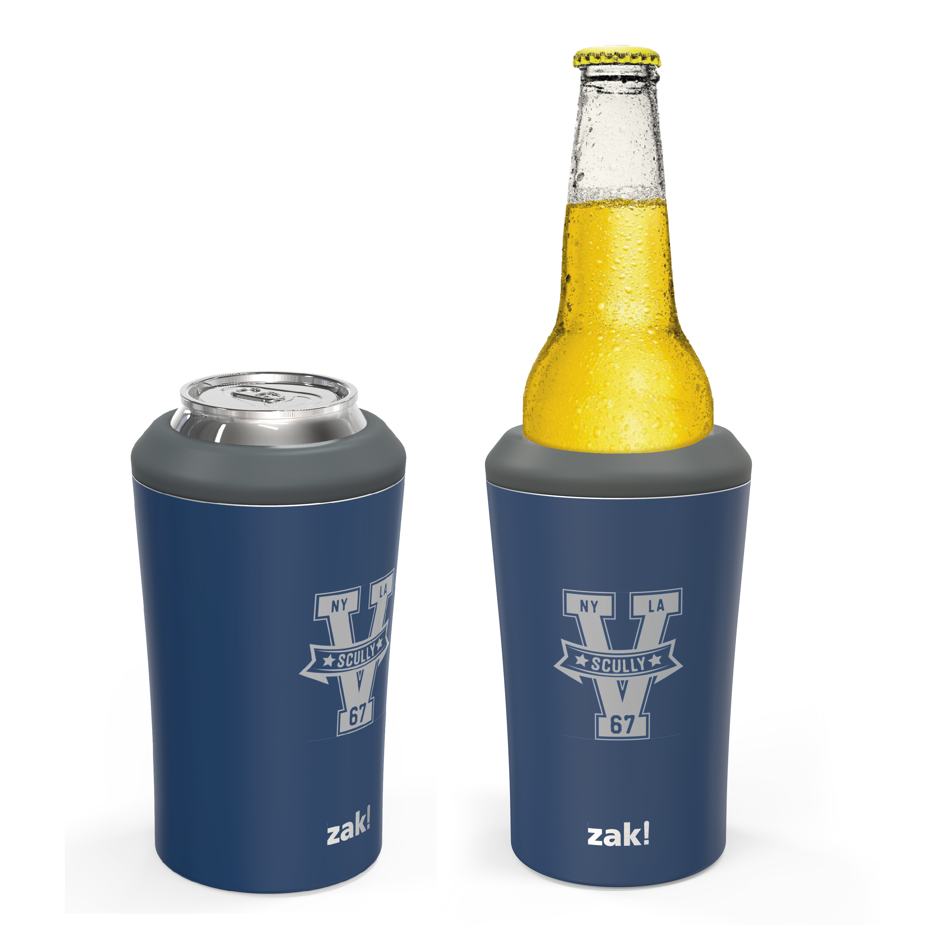 Zak Hydration 12 ounce Double Wall Stainless Steel Can and Bottle Cooler with Vacuum Insulation, Vin Scully slideshow image 3