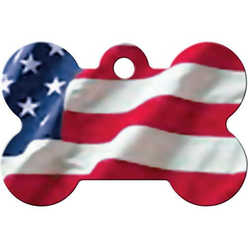 USA Flag Large Bone Quick-Tag 5 Pack