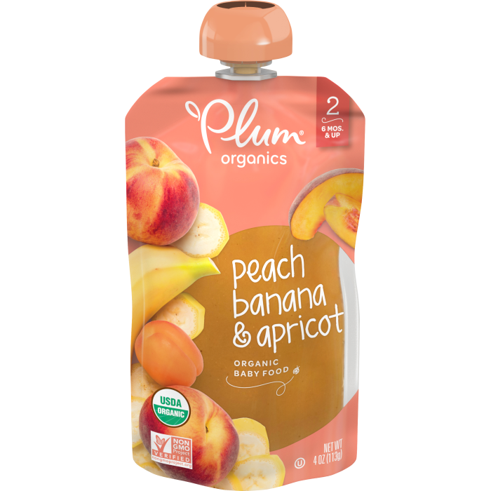 Peach, Banana & Apricot Baby Food