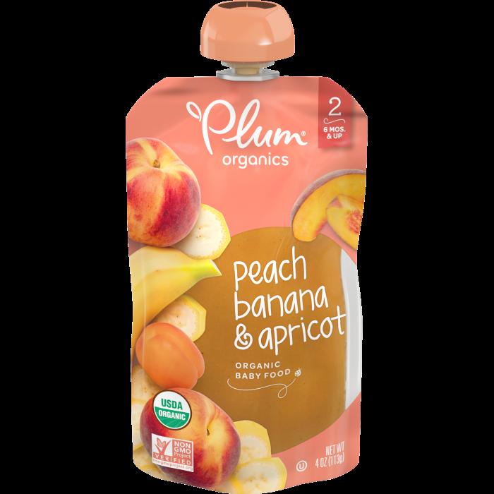 Peach, Banana & Apricot Baby Food