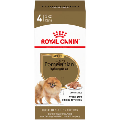 Royal Canin Breed Health Nutrition Pomeranian Adult Loaf in Sauce Canned Dog Food