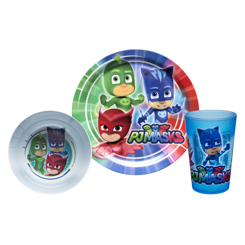 PJ Masks Kid's Dinnerware Set, Catboy, Owlette & Gekko, 3-piece set slideshow image 1