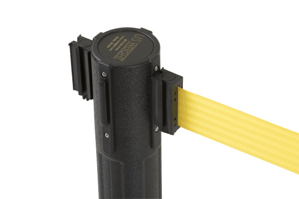 Sentry Stanchion - Black with Yellow Belt 3