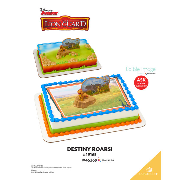 The Lion Guard Destiny Roars! DecoSet® The Magic of Cakes® Page