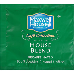 MAXWELL HOUSE Café Collection Roast & Ground In-Room Decaf Coffee, 0.5 oz. (Coffee) Pack of 100 image