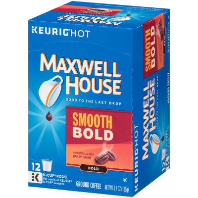 Maxwell House Smooth Bold Coffee K-Cup Pods, 12 count