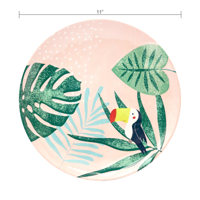 Summer Prints Dinnerware Set, Pink Tropics, 12-piece set slideshow image 8