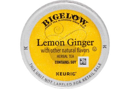 Lemon Ginger K-Cups - Case of 4 boxes - total of 96 k-cups