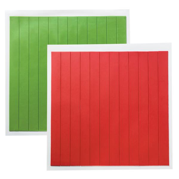 Solid Holiday DecoShapes® Strips Fondant