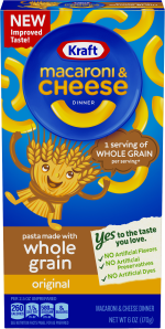 Kraft Original Flavor Whole Grain Macaroni & Cheese Dinner 6 oz Box image