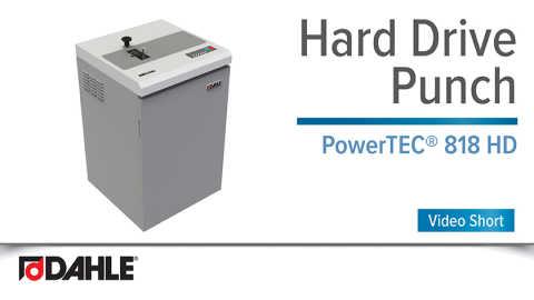 Dahle PowerTEC® 818 HD Hard Drive Punch Video Short
