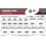 Stainless Steel Fender & Finish Washers Assortment