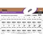 Metric Woodruff Keys Assortment (M2 thru M10 Thickness)