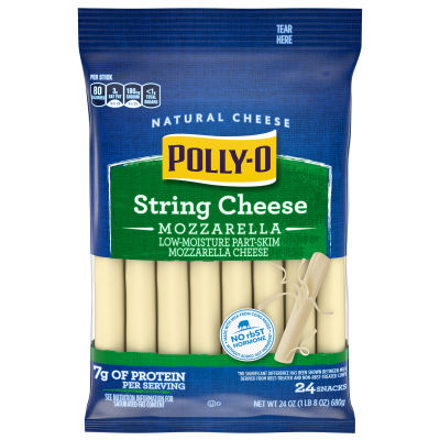 Polly-O Low-Moisture Part-Skim Mozzarella String Cheese, 24 ct Bag