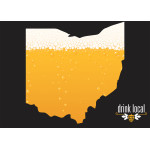 "Drink Local Ohio Beer Novelty Sign (10"" x 14"")"