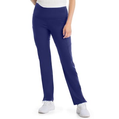 Urbane Ultimate PWRcor Compression Scrub Pants for Women: 4 Pocket, Slimming Anti-roll Waist, Soft Stretch, Straight Leg Medical Scrubs 9337-