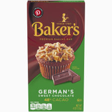 Baker's Premium German's Sweet Chocolate Baking Bar, 4 oz Box