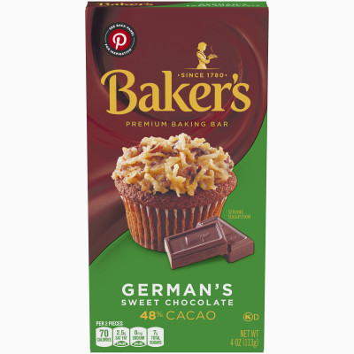 Baker's Premium German's Sweet Chocolate Baking Bar 4 oz Box