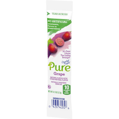 Crystal Light Pure Grape Drink Mix 7 - 0.91 oz Wrappers