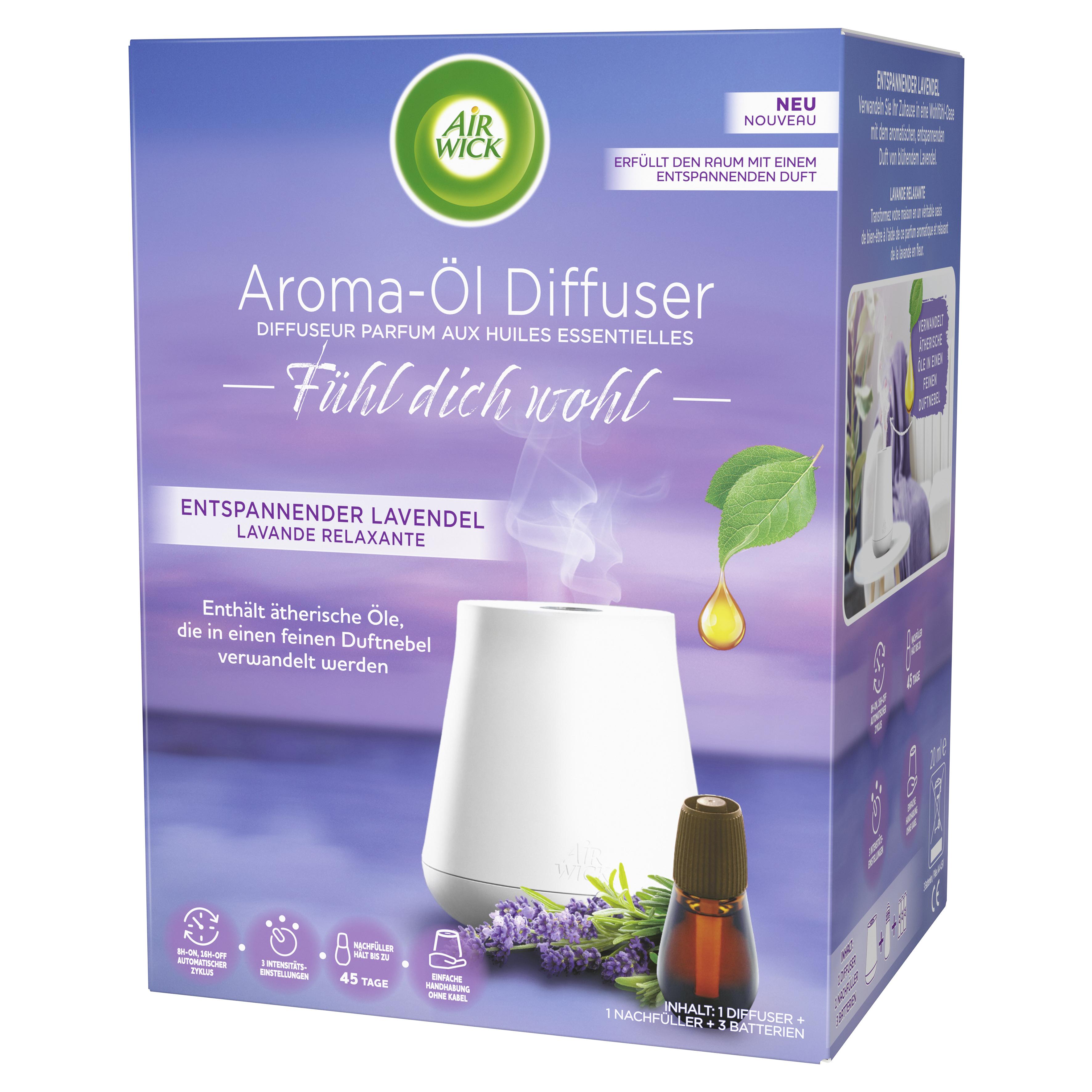 Air Wick Aroma-Öl Diffuser Starter-Set Entspannender Lavendel