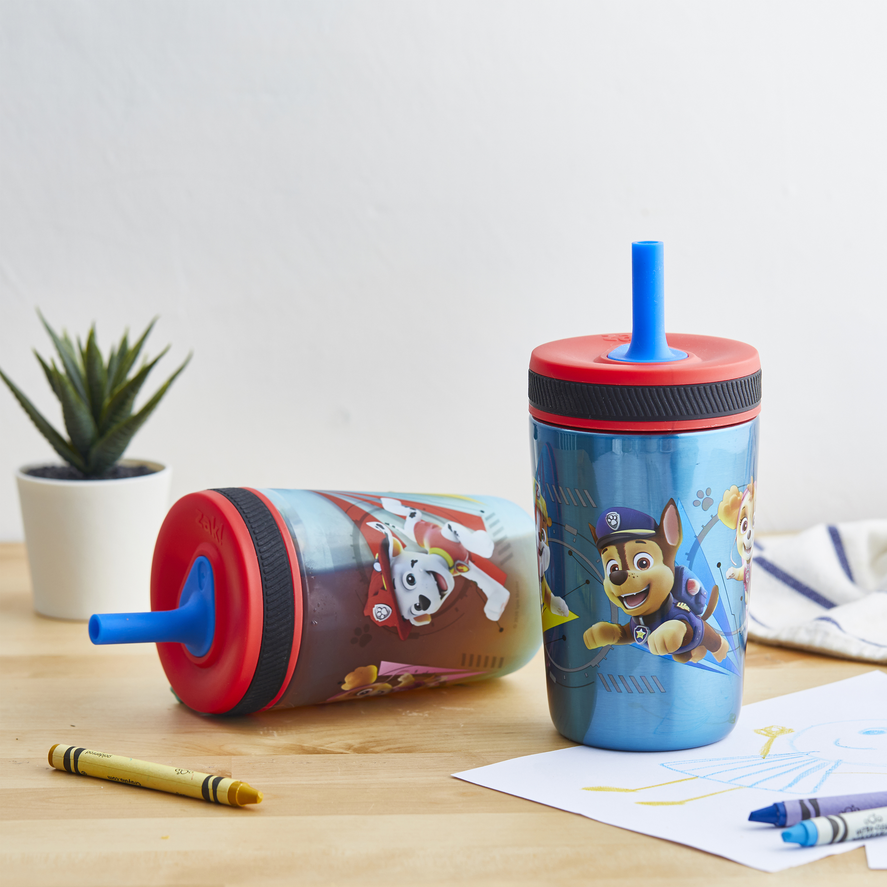 Paw Patrol 15  ounce Plastic Tumbler, Chase, Skye, Marshall and Friends, 3-piece set slideshow image 8