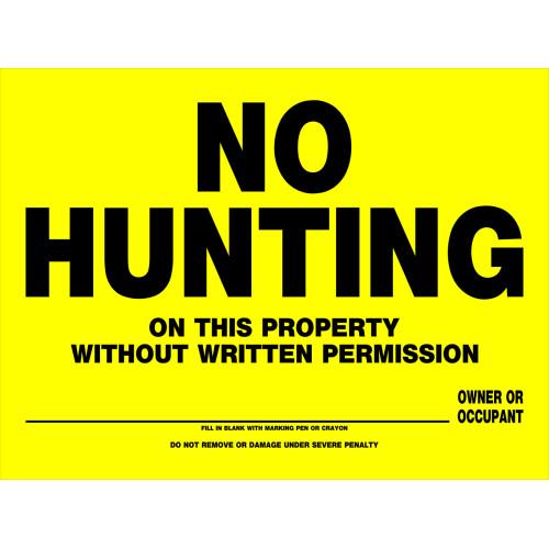 No Hunting Sign (12