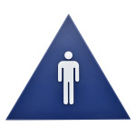 "Triangle Men's Restroom Sign (12"" x 10"")"