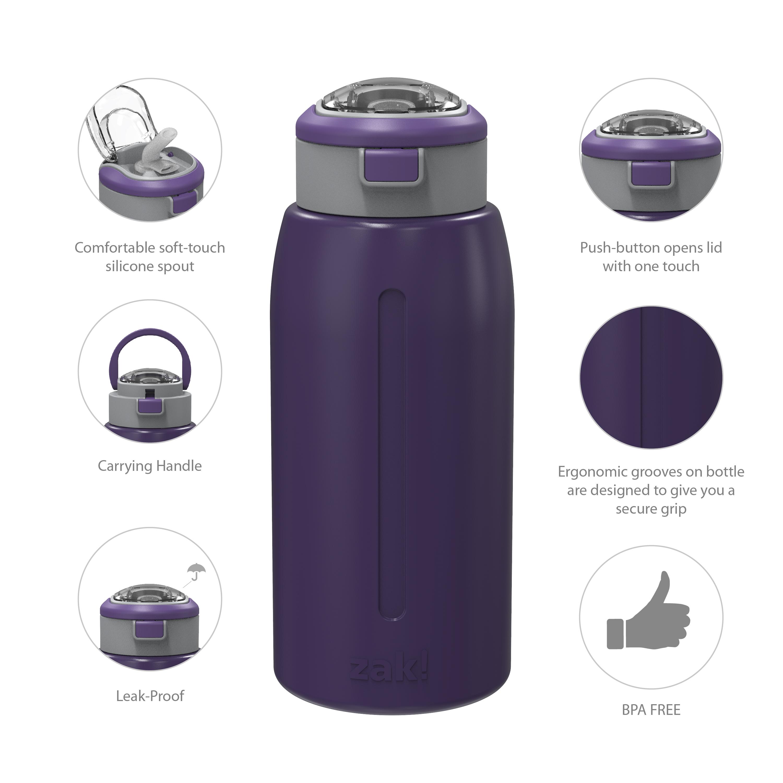 Genesis 32 ounce Stainless Steel Water Bottles, Viola slideshow image 9