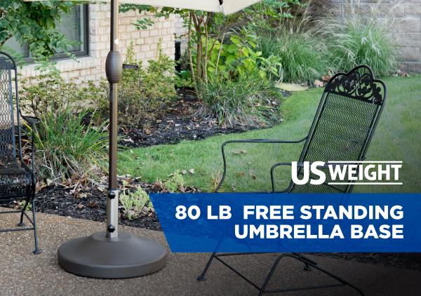 80 lb Free Standing Umbrella Base - Bronze 2