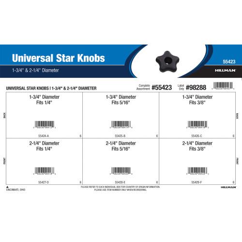 Universal Star Knobs Assortment (1-3/4