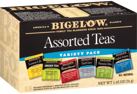 Six Assorted Blend Teas - Case of 6 boxes - total of 108 teabags