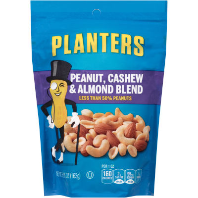 Planters Peanuts, Cashews, Almonds Mix 5.75 oz Pouch