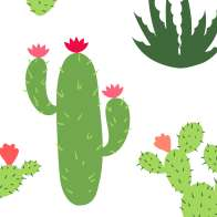 Swatch for Printed Duck Tape® Brand Duct Tape - Cacti, 1.88 in. x 10 yd.