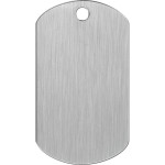 Brushed Chrome Large Military ID Quick-Tag