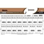 Stainless Steel Metric Flat-Head Socket Cap Screws Assortment (M3-0.50 thru M6-1.00 Thread)