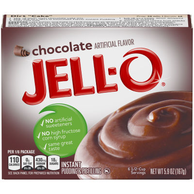 Jell-O Instant Chocolate Pudding & Pie Filling, 5.9 oz Box