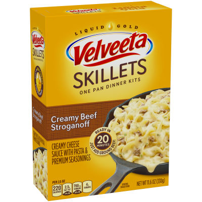 Velveeta Cheesy Skillets Creamy Beef Stroganoff Dinner Kit 11.6 oz Box