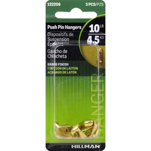 Hillman Push Pin Hanger Gilt 10lbs