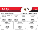 "Hex Head Body Bolts Assortment (1/4""-20 thru 3/8""-16)"