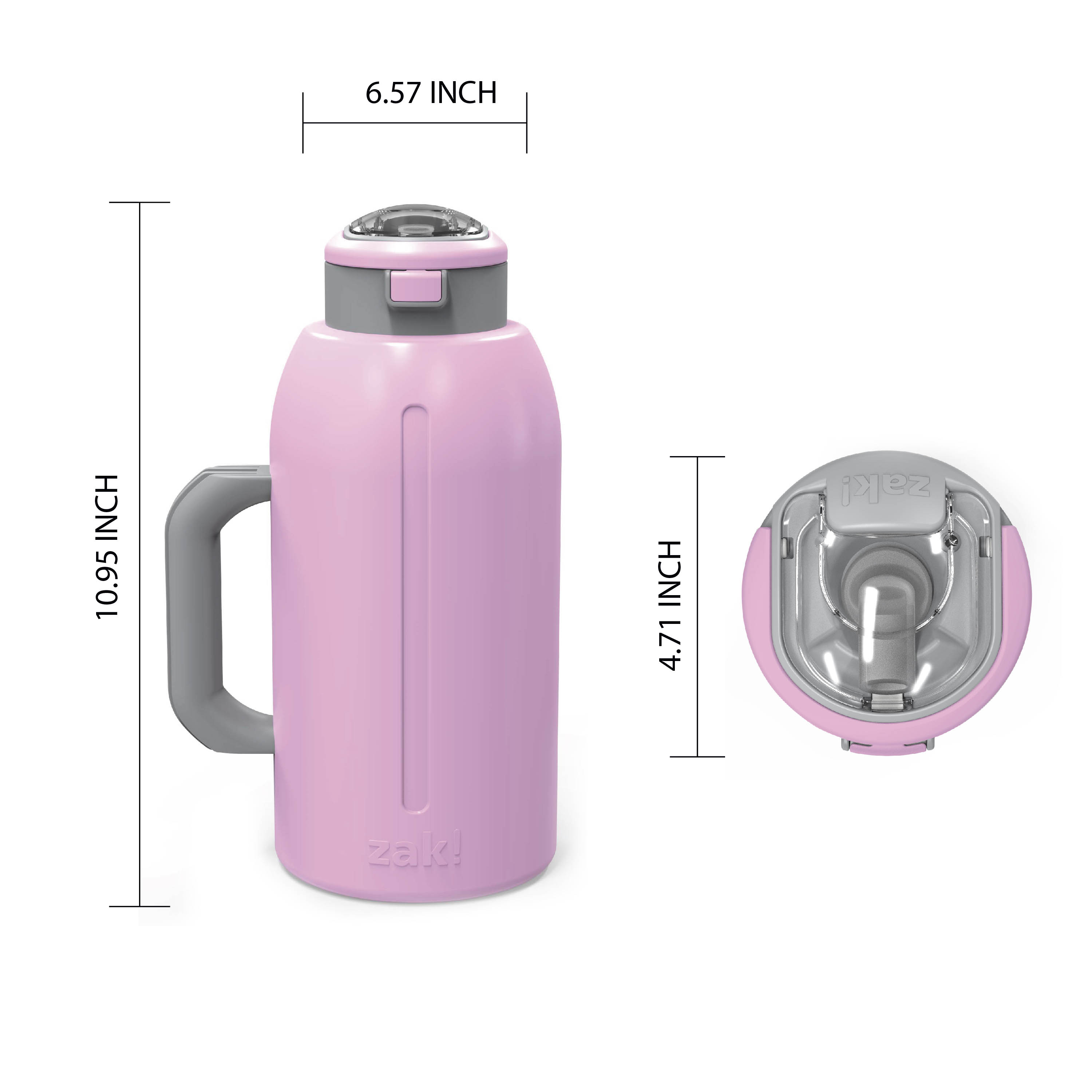 Genesis 64 ounce Stainless Steel Water Bottles, Lilac slideshow image 6