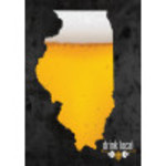"Aluminum Drink Local IL Beer Sign 10"" x 14"""