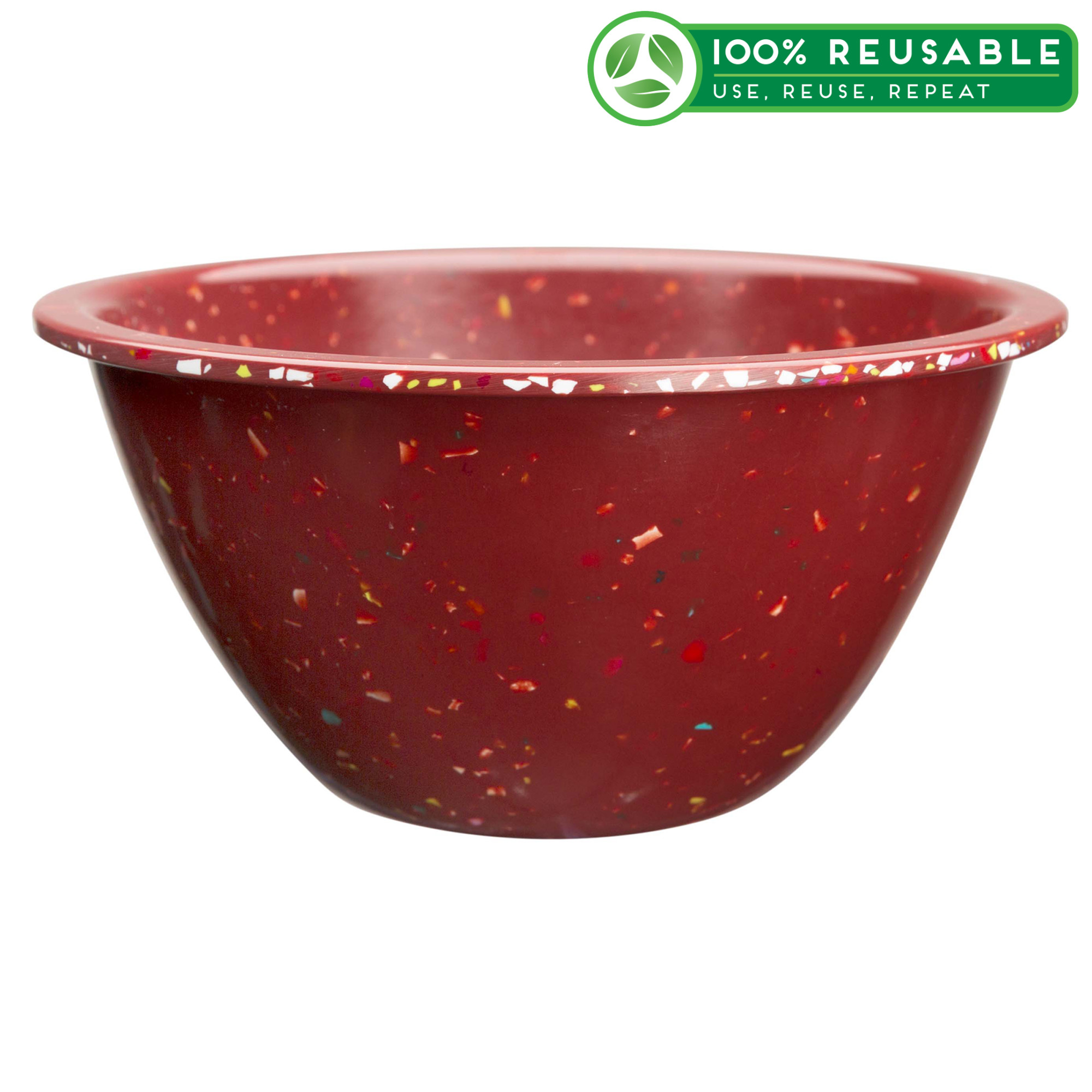 Confetti 16 ounce Soup Bowl, Brick, 6-piece set slideshow image 1