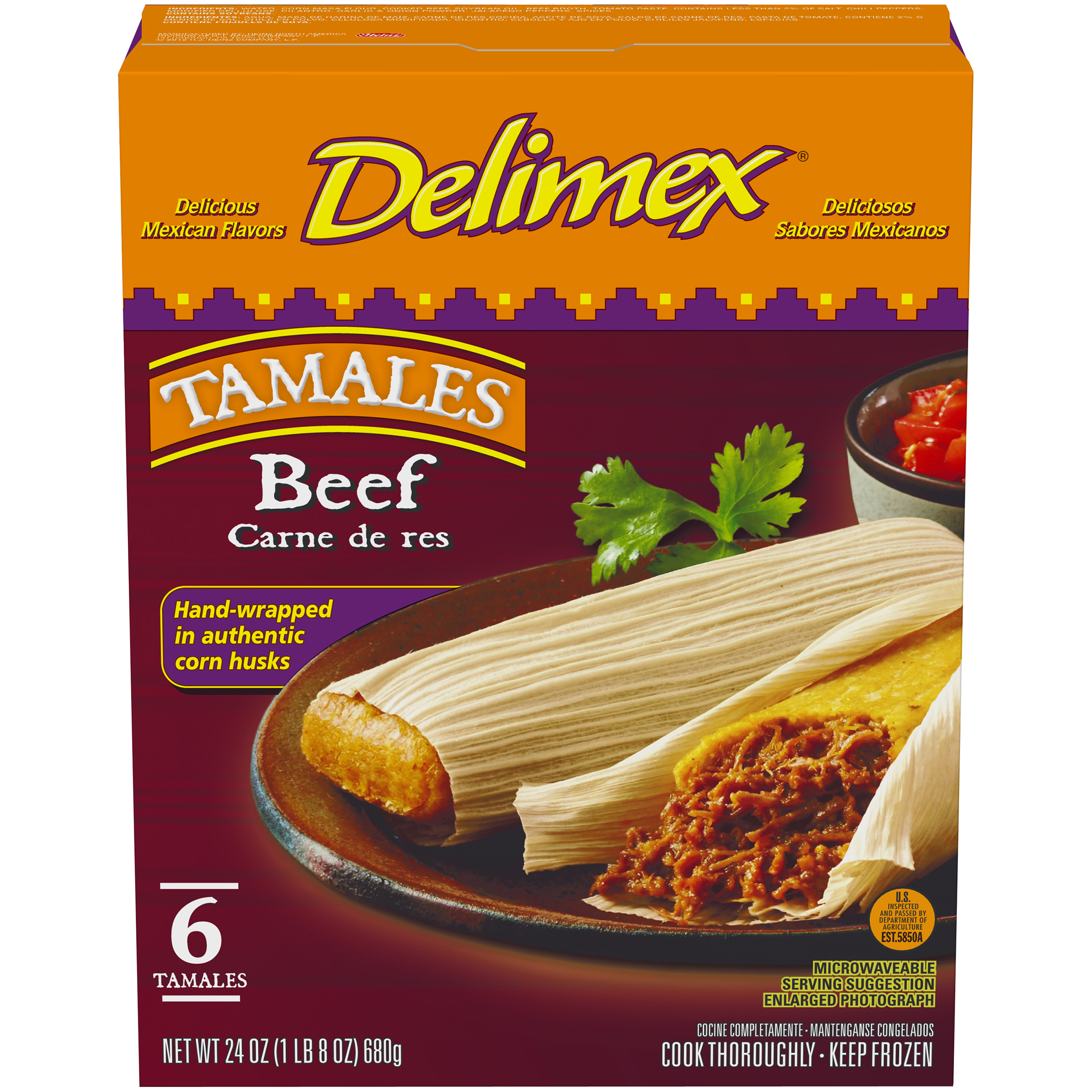 BEEF TAMALES 6 pc