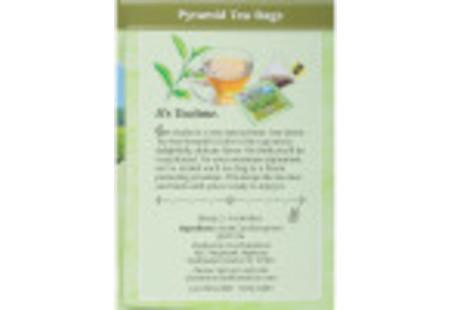 Ingredient panel of Charleston Tea Green Tea Box