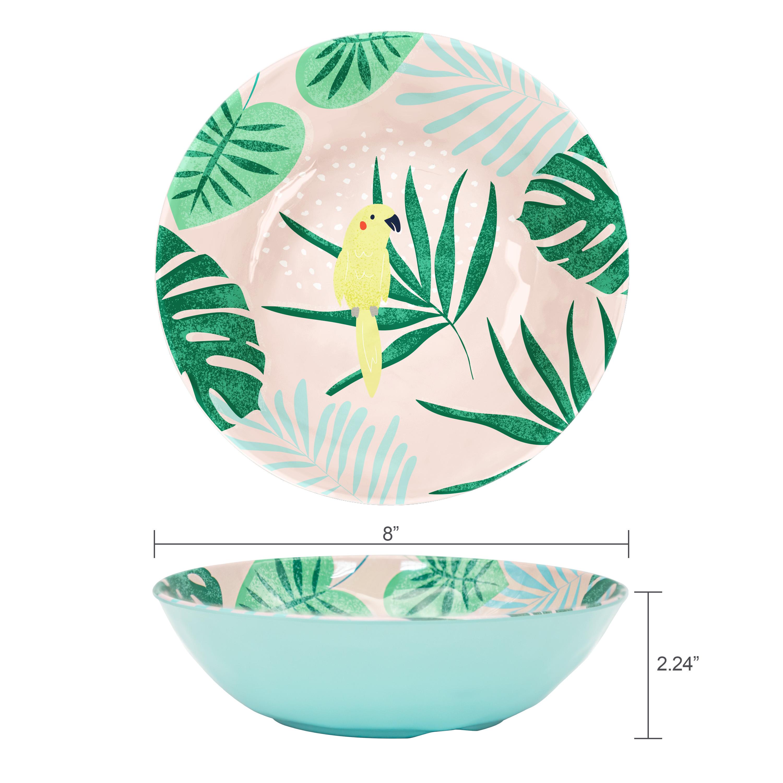 Summer Prints Dinnerware Set, Pink Tropics, 12-piece set slideshow image 3